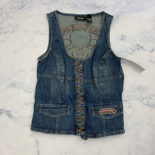 Primary Photo - BRAND: HARLEY DAVIDSON STYLE: TOP SLEEVELESS COLOR: DENIM SIZE: M SKU: 315-31513-81409