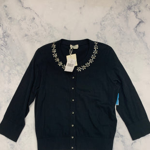 Primary Photo - BRAND: KATE SPADE STYLE: SWEATER CARDIGAN LIGHTWEIGHT COLOR: BLACK SIZE: L SKU: 315-31513-75384