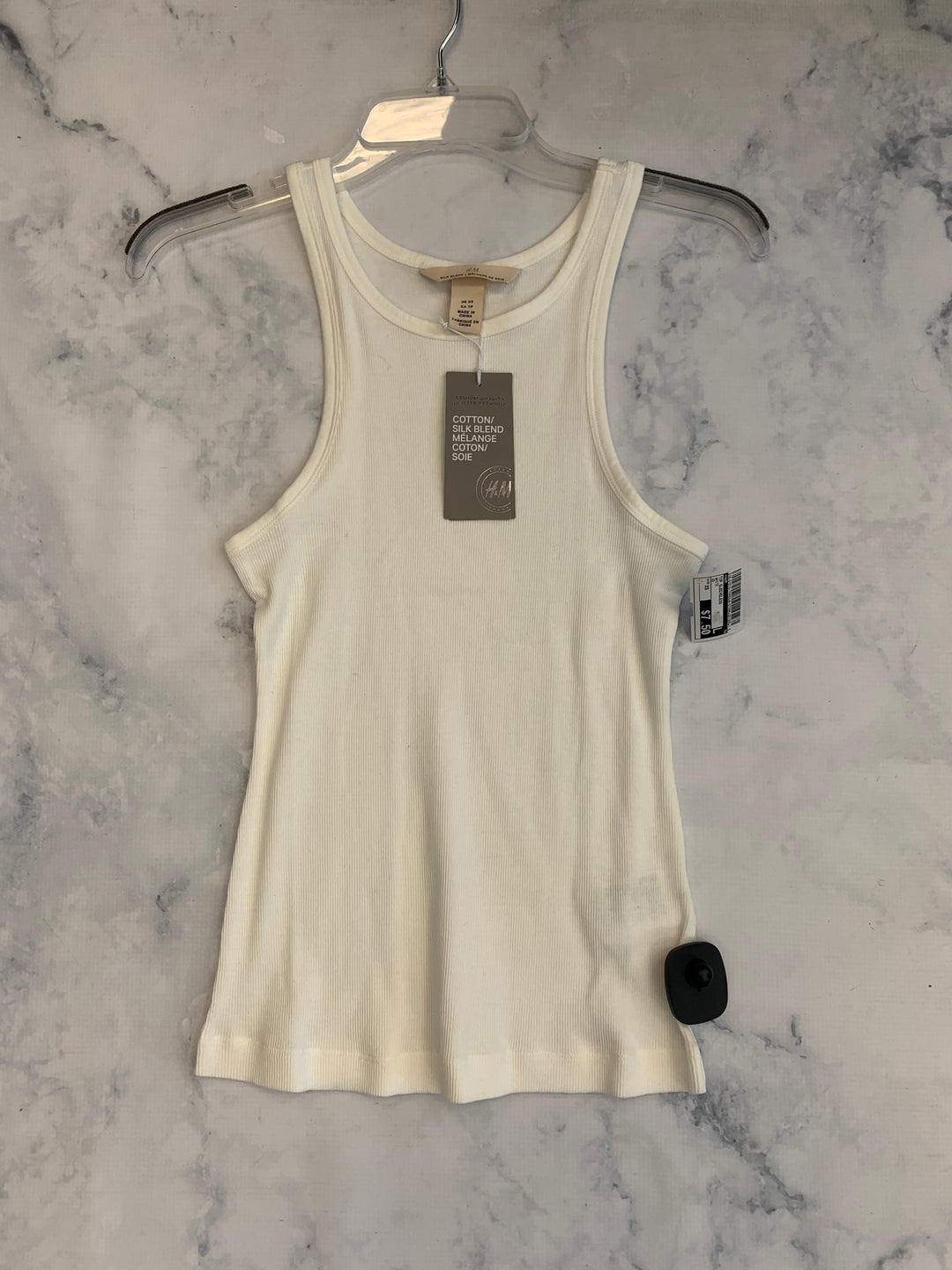 Primary Photo - BRAND: H&M <BR>STYLE: TOP SLEEVELESS <BR>COLOR: WHITE <BR>SIZE: XS <BR>SKU: 315-31513-74453