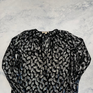 Primary Photo - BRAND: MICHAEL BY MICHAEL KORS STYLE: TOP LONG SLEEVE COLOR: BLACK SILVER SIZE: S SKU: 315-31513-81271