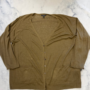 Primary Photo - BRAND: EILEEN FISHER STYLE: SWEATER CARDIGAN LIGHTWEIGHT COLOR: OLIVE SIZE: 2X SKU: 315-31513-82267