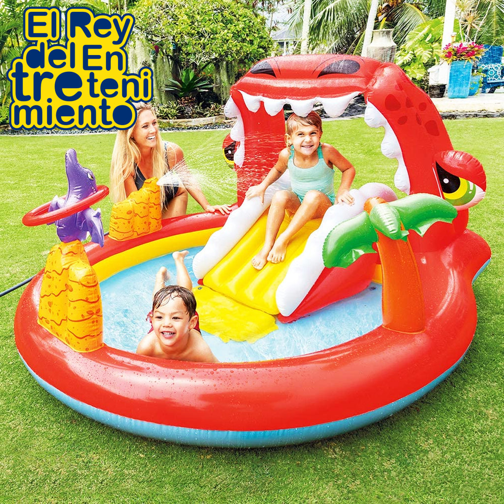 Piscina Intex Inflable Centro de Juegos Dino Tobogan (5030204276875)