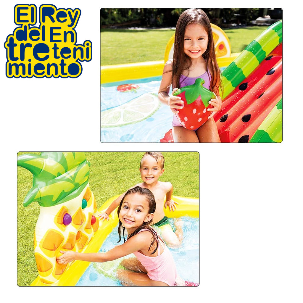 Piscina Inflable Intex Centro De Juegos Con Tobogan (5030202409099)
