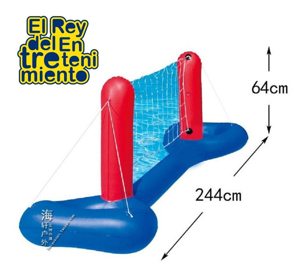 Set Volley Bestway Inflable P/ Piscina Red + Pelota! (4973625507979)