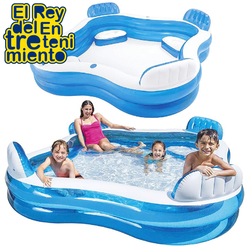 Piscina Inflable Intex Familiar C/ Asientos Posavasos (5030200770699)