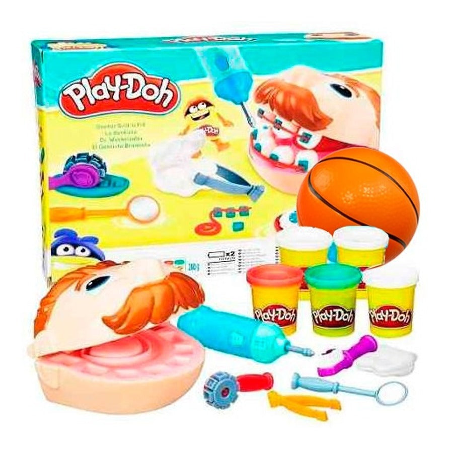Set Play Doh Dentista Bromista Hasbro + Pelota Regalo (4973622689931)
