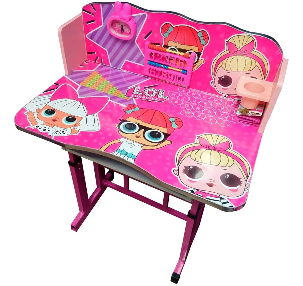 Set Escritorio Infantil Lol Surprise Mesa Silla Niña (4973618626699)