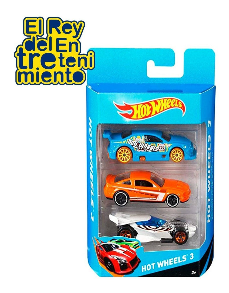 Hot Wheels Autos Pack X3 Para Pista (4973502660747)