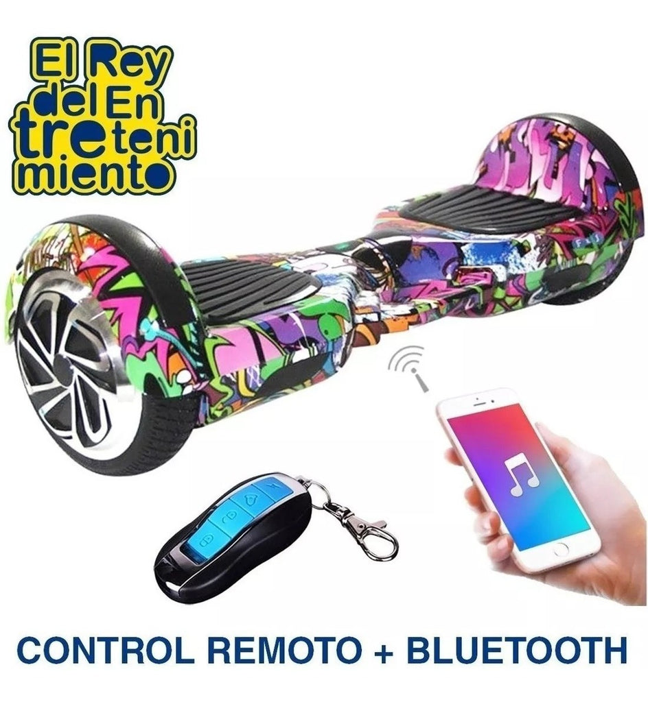 Skate Hoverboard Led+ Sprayer Humo+ Bluetooth+control (4973627375755)