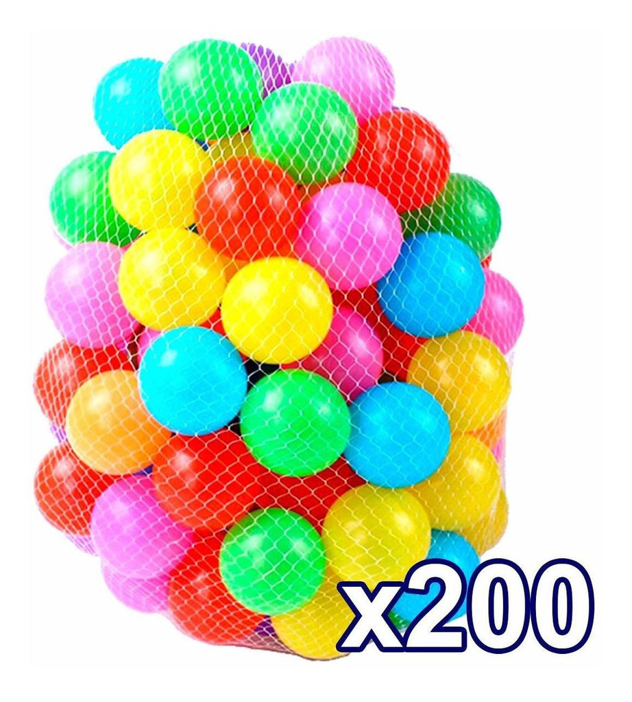 Set 200 Pelotas Pelotero Grandes 7.5cm Brillante+ Red (4973608632459)