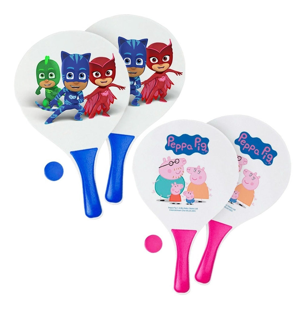 Set 2 Paletas Peppa Pig Y Pj Mask + Pelota P/ Playa (4973610991755)