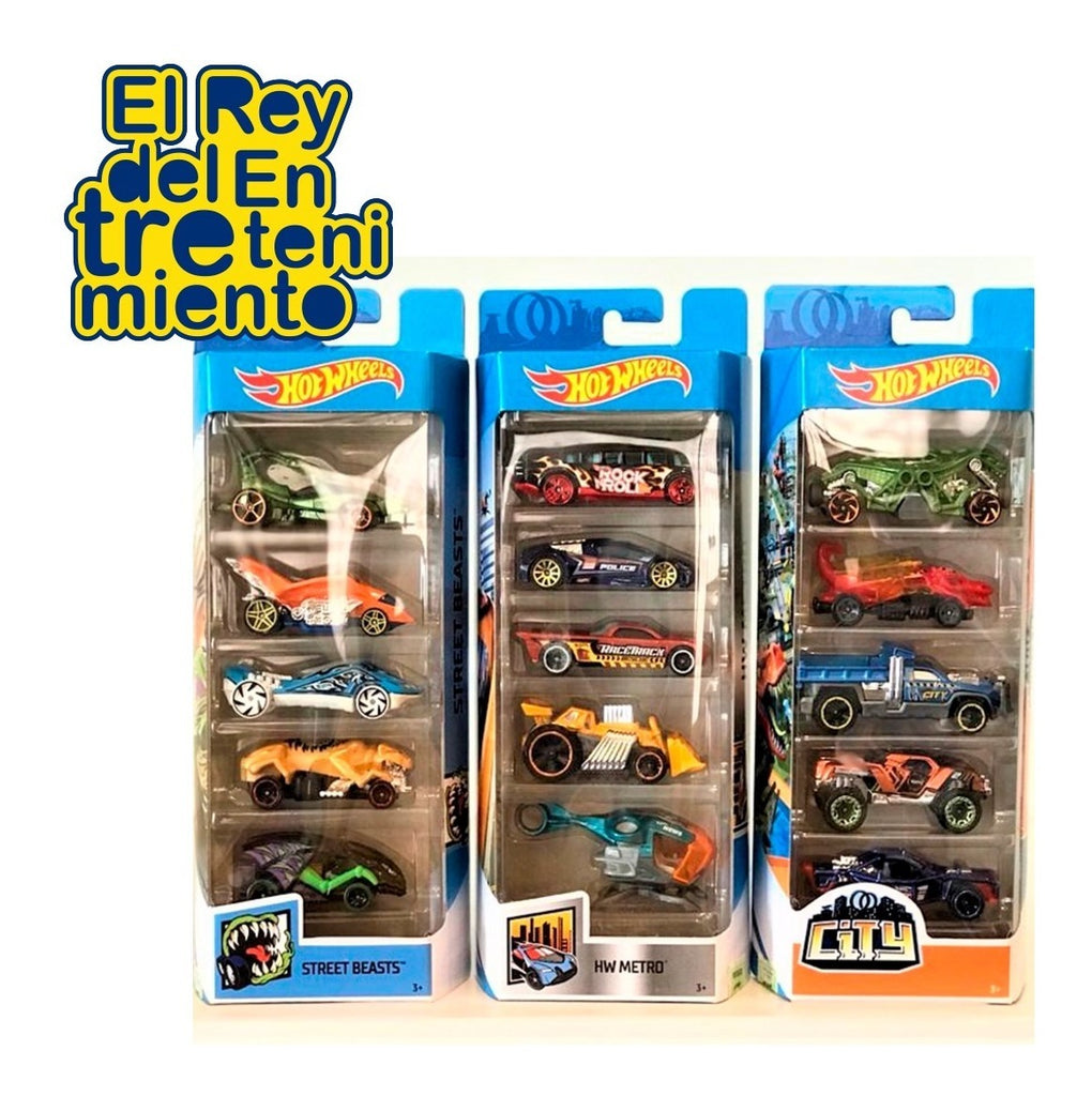 Autos Hot Wheels X5 Pack Para Pista Autitos (4973424214155)