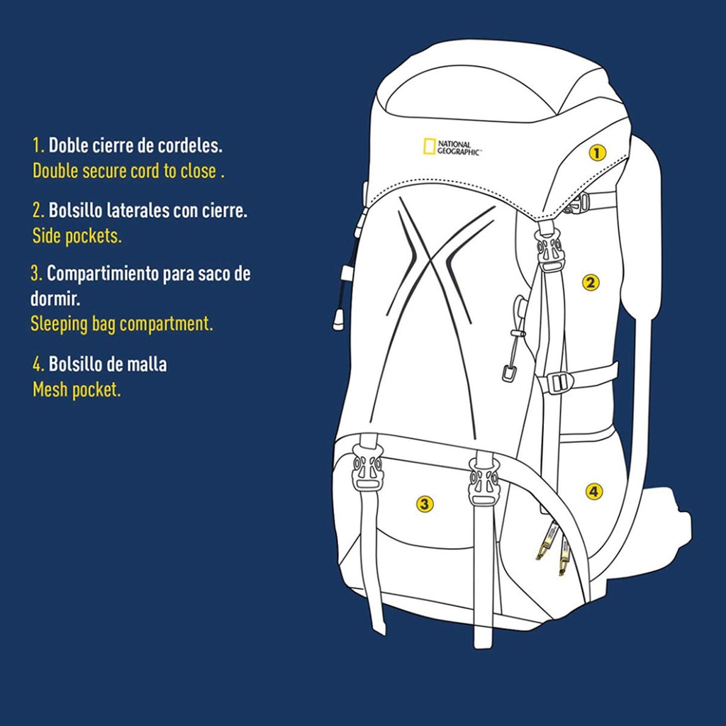 Mochila Camping National Geographic New Lake 75 Lts (4973562724491)