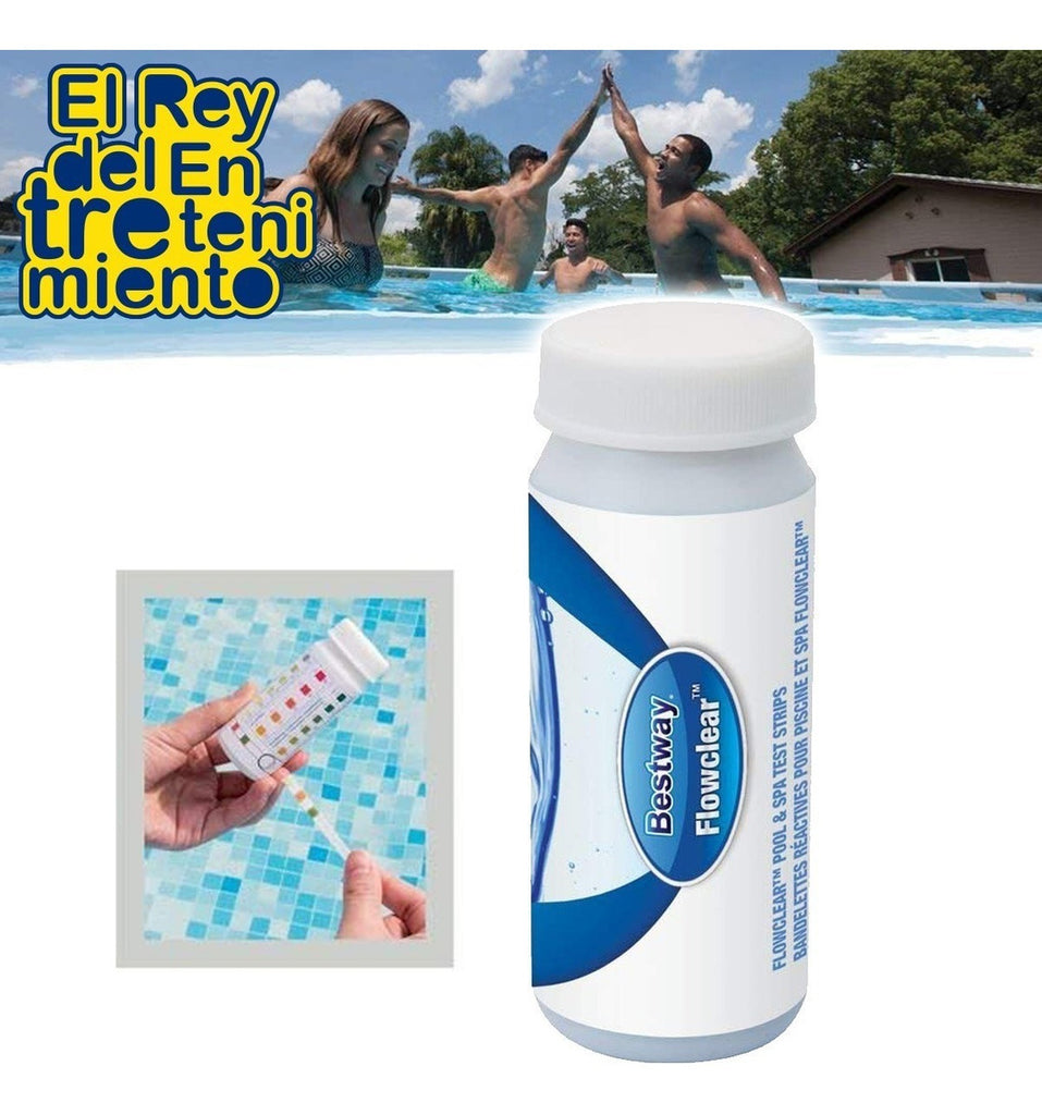Tiras Bestway Mide Nivel Ph Mantenimiento Piscina (4973634191499)