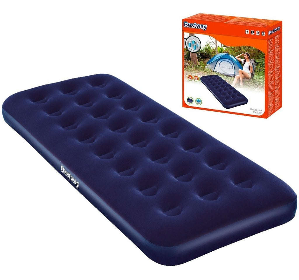 Colchón Inflable Bestway 1 Plaza Camping + Almohada (4973482999947)