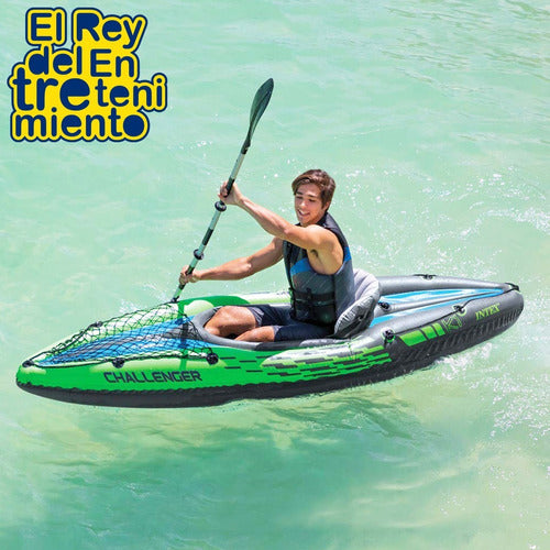 Kayak Intex Bote Inflable Gomón + Remo + Inflador ! (4973518520459)