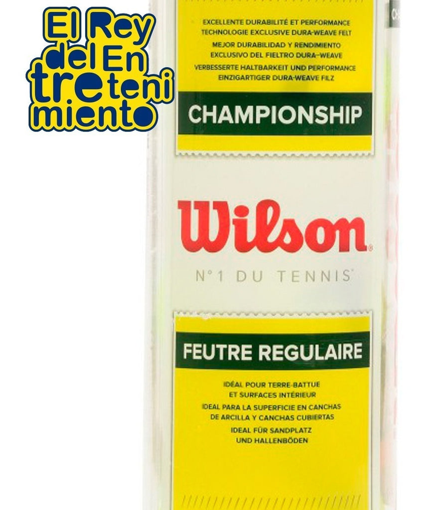 Set Wilson 24+1 Tubos Pelota Tenis Regular Duty (4973625606283)