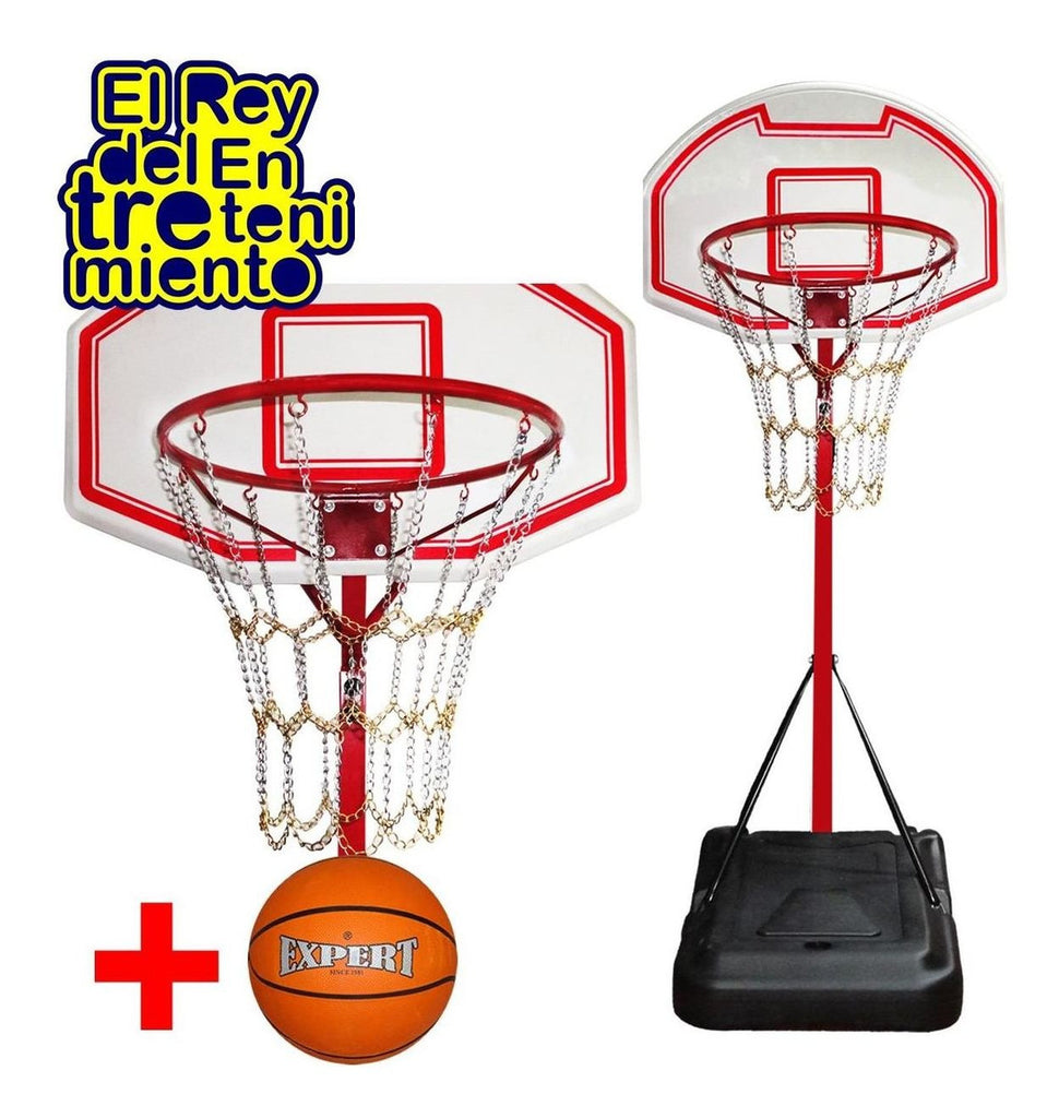Tablero Basket C/ Base + Aro + Red Cadenas + Pelota (4973632651403)