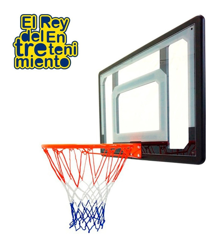 Tablero Basket + Aro Metal+ Red + Bulones + Pelota N5 (4973632946315)