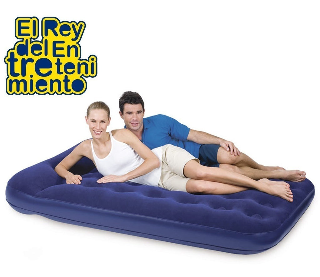 Colchón Inflable Bestway 2 Plazas C/ Inflador Camping (4973483196555)