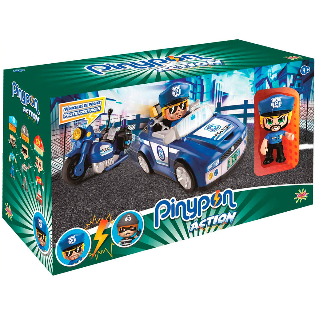 Pinypon Action Set Vehiculos y Figura Policia (5067837472907)