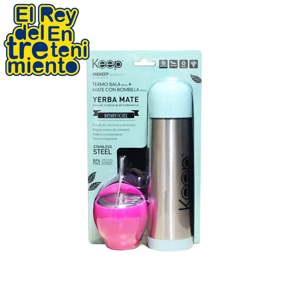Keep Set Mate Termo Bala  Acero Inoxidable Colores (5062242369675)