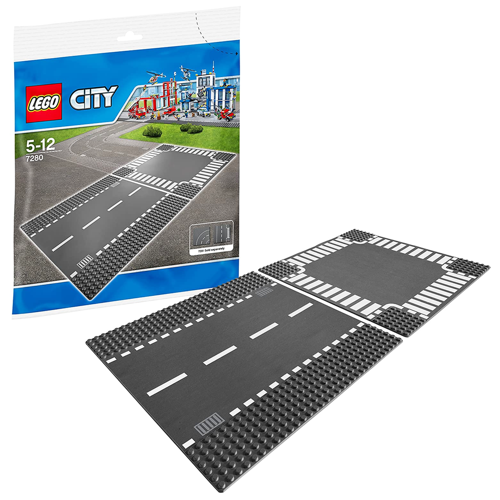 Lego City Set De Placas Rectas Y Cruces Ciudad (5061323784331)
