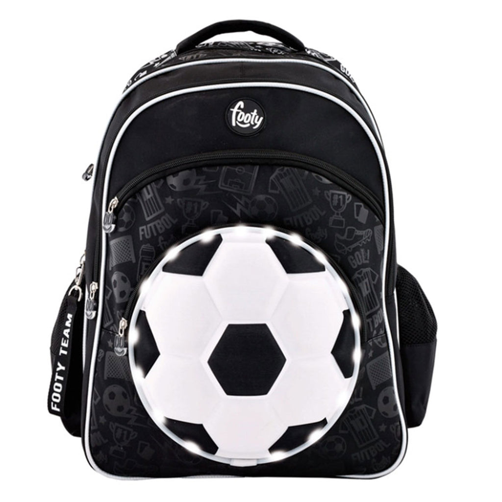 Mochila Footy Team Fútbol C/ Luces Para Niño Relieve (5091198501003)