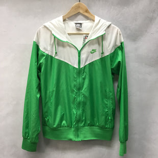 Primary Photo - BRAND: NIKE APPAREL STYLE: ATHLETIC JACKET COLOR: WHITE GREEN SIZE: L SKU: 194-194183-22486