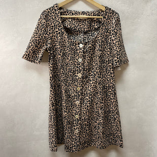 Primary Photo - BRAND: ALTARD STATE STYLE: DRESS SHORT SHORT SLEEVE COLOR: LEOPARD PRINT SIZE: L SKU: 194-194183-23938