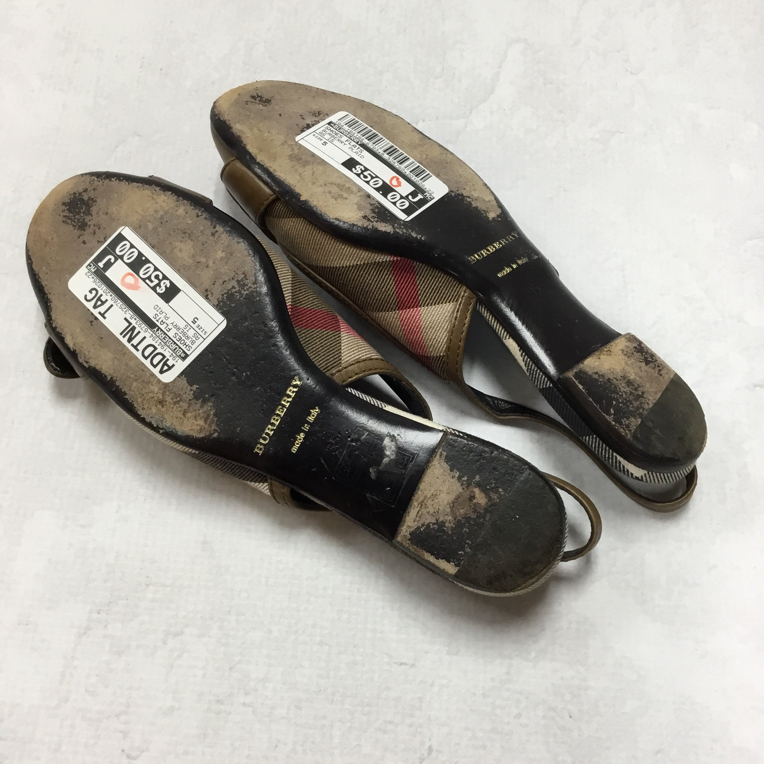 Photo #3 - BRAND: BURBERRY <BR>STYLE: SHOES FLATS <BR>COLOR: BURBERRY PLAID <BR>SIZE: 5 <BR>OTHER INFO: AS IS <BR>SKU: 194-194194-6793