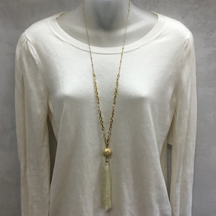 Primary Photo - BRAND: LILLY PULITZER STYLE: NECKLACE COLOR: GOLD OTHER INFO: CREAM TASSEL SKU: 194-194194-6018