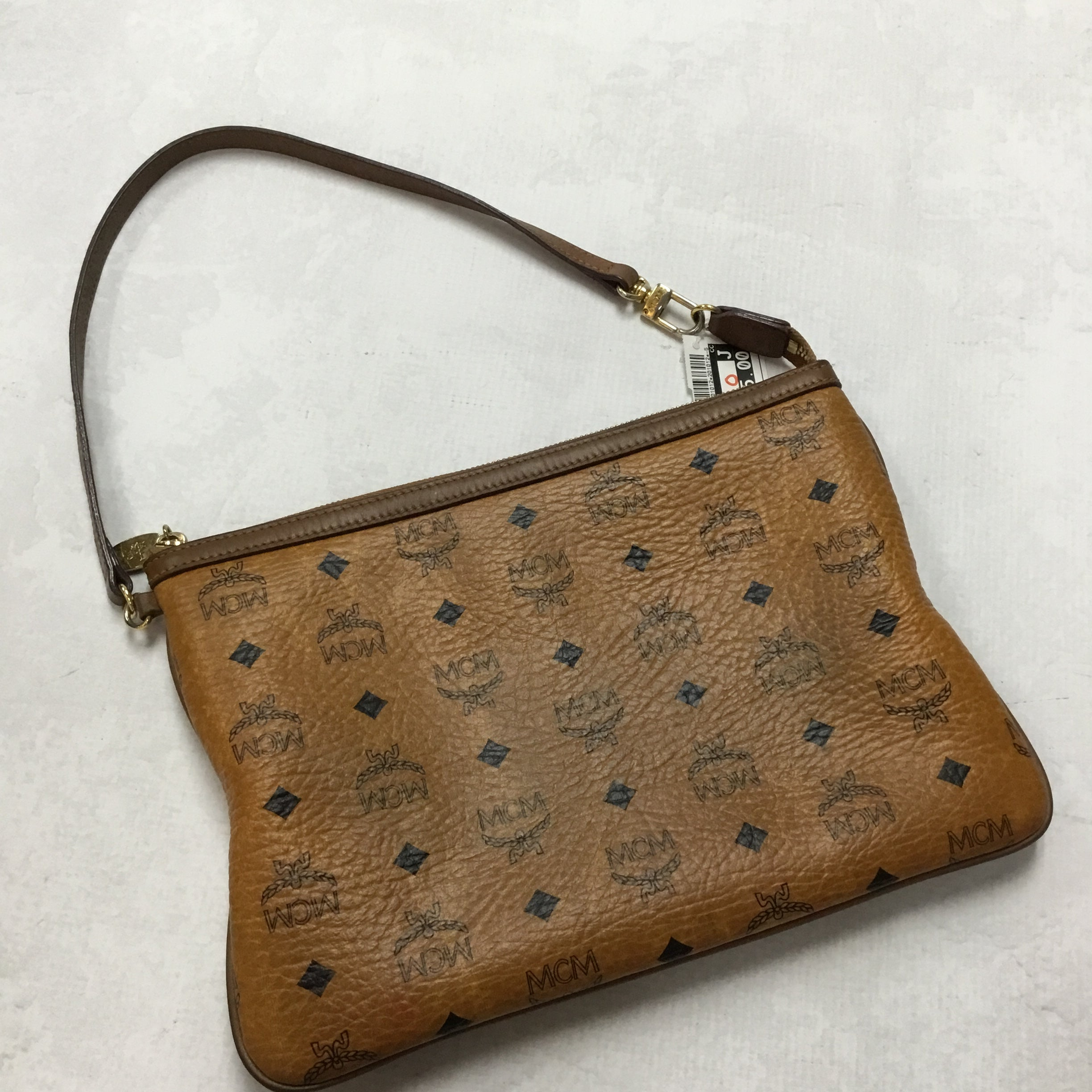 Photo #2 - BRAND: MCM <BR>STYLE: HANDBAG DESIGNER <BR>COLOR: BROWN <BR>SIZE: SMALL <BR>OTHER INFO: PRICED WITH CONDITION IN MIND<BR>SKU: 194-19414-36472
