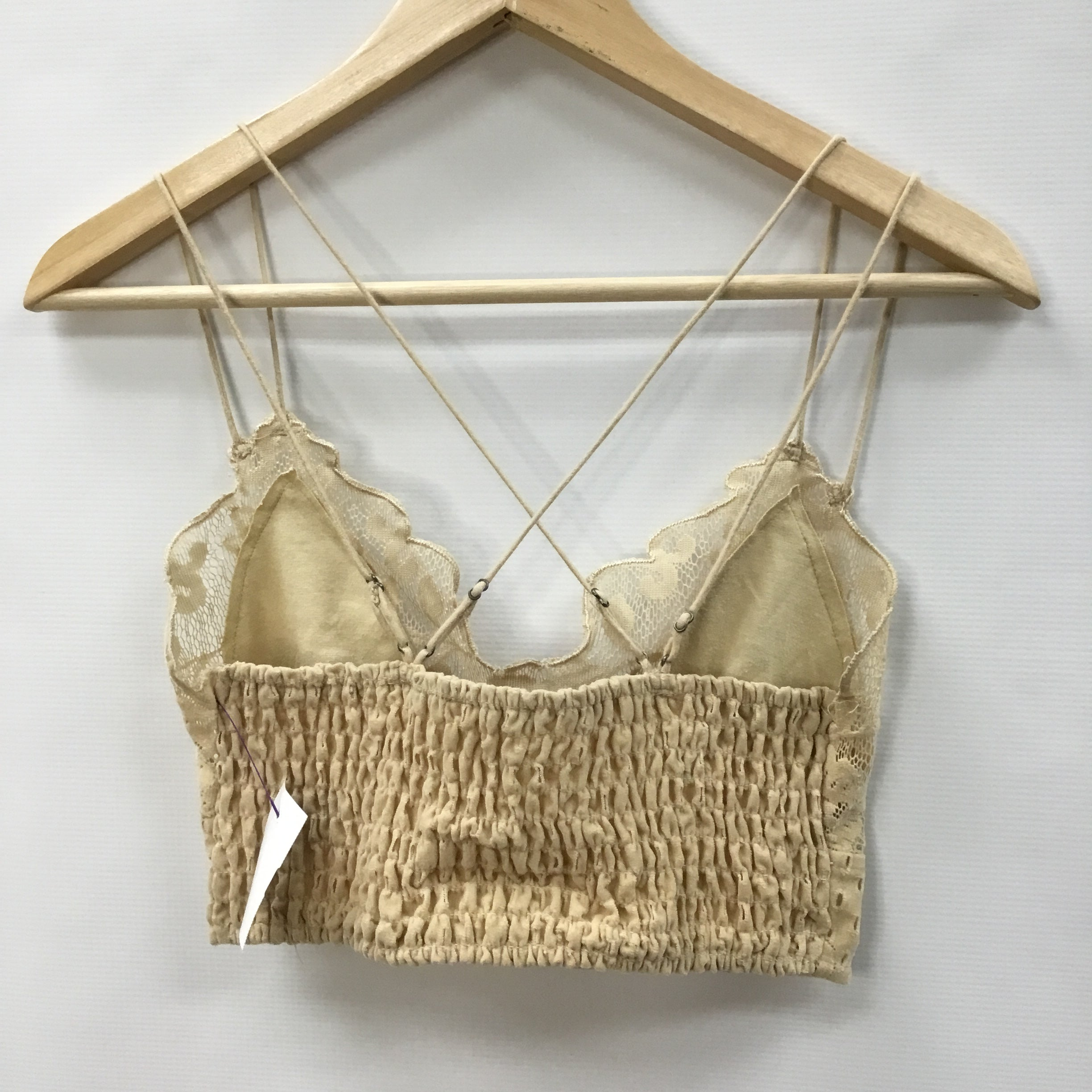 Photo #1 - BRAND: FREE PEOPLE <BR>STYLE: BRA <BR>COLOR: TAN <BR>SIZE: S <BR>SKU: 194-194225-3461