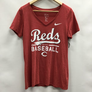 Primary Photo - BRAND: NIKE APPAREL STYLE: ATHLETIC TOP SHORT SLEEVE COLOR: RED SIZE: M SKU: 194-194172-22220