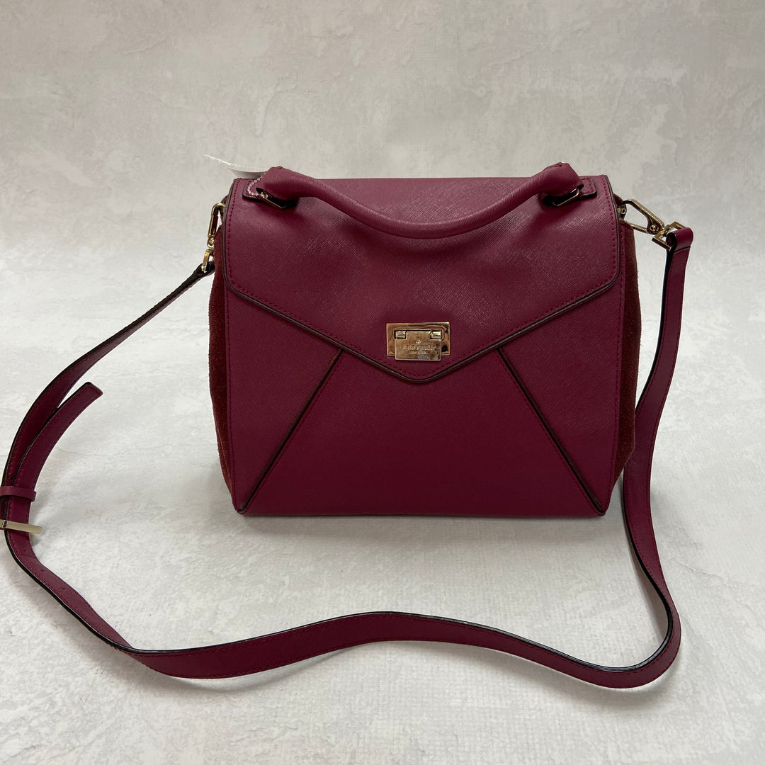 Primary Photo - BRAND: KATE SPADE <BR>STYLE: HANDBAG DESIGNER <BR>COLOR: MAROON <BR>SIZE: SMALL <BR>OTHER: AS IS <BR>SKU: 194-194197-13413