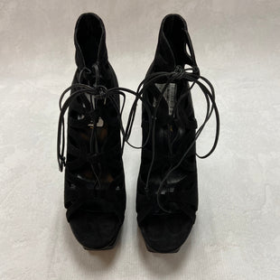 Primary Photo - BRAND: YVES SAINT LAURENT STYLE: SANDALS HIGH COLOR: BLACK SIZE: 10 SKU: 194-19414-36489