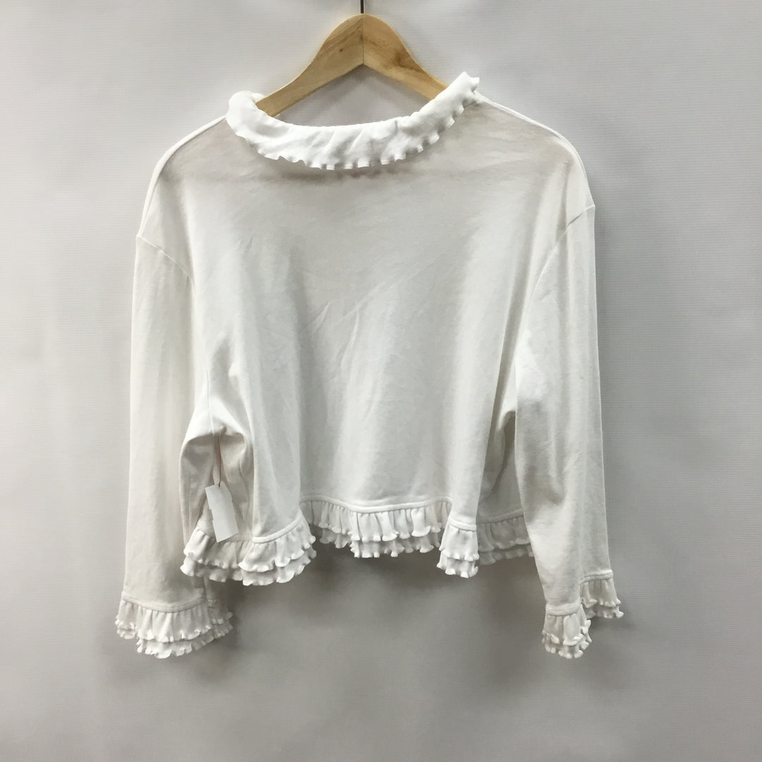 Photo #1 - BRAND: LILLY PULITZER <BR>STYLE: SWEATER CARDIGAN LIGHTWEIGHT <BR>COLOR: WHITE <BR>SIZE: XL <BR>SKU: 194-194220-5523