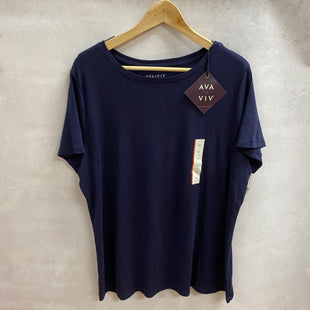 Primary Photo - BRAND: AVA & VIV STYLE: TOP SHORT SLEEVE BASIC COLOR: NAVY SIZE: 1X SKU: 194-194197-13404