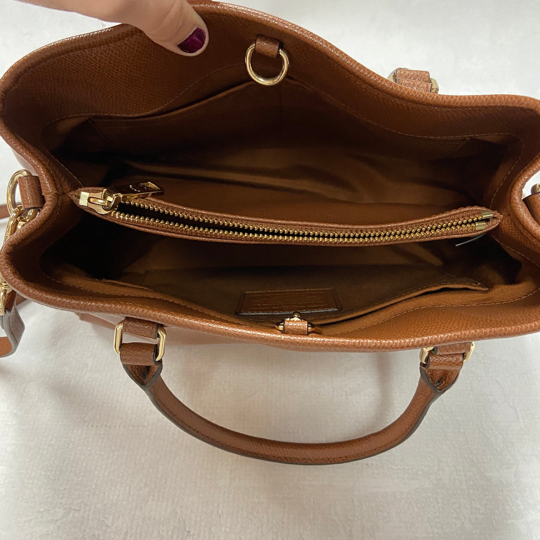 Photo #2 - BRAND: COACH <BR>STYLE: HANDBAG DESIGNER <BR>COLOR: BROWN <BR>SIZE: MEDIUM <BR>SKU: 194-194183-19921