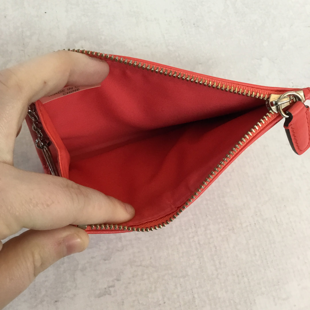 Photo #3 - BRAND: COACH <BR>STYLE: COIN PURSE <BR>COLOR: NEON RED/ HOT CORAL<BR>SIZE: SMALL <BR>SKU: 194-194194-6015