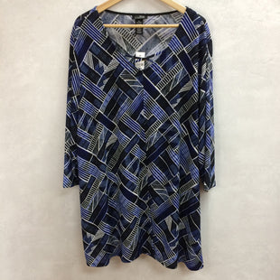 Primary Photo - BRAND: CATHERINES STYLE: TOP LONG SLEEVE COLOR: BLUE SIZE: 3X SKU: 194-194167-31059