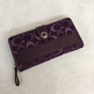 Primary Photo - BRAND: COACH STYLE: WALLET COLOR: MONOGRAM SIZE: MEDIUM OTHER INFO: PURPLE SKU: 194-194167-28447