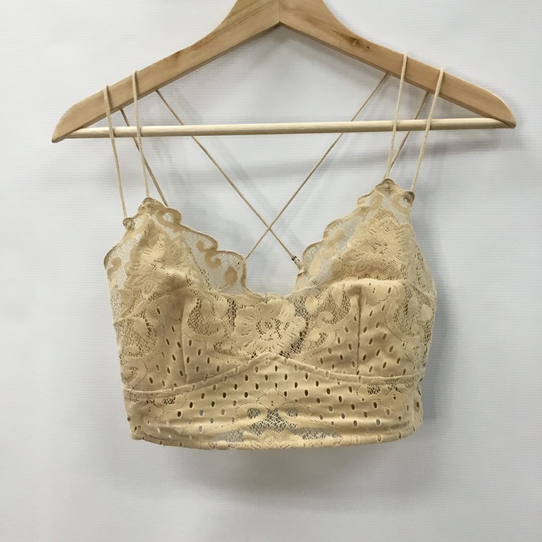 Primary Photo - BRAND: FREE PEOPLE <BR>STYLE: BRA <BR>COLOR: TAN <BR>SIZE: S <BR>SKU: 194-194225-3461