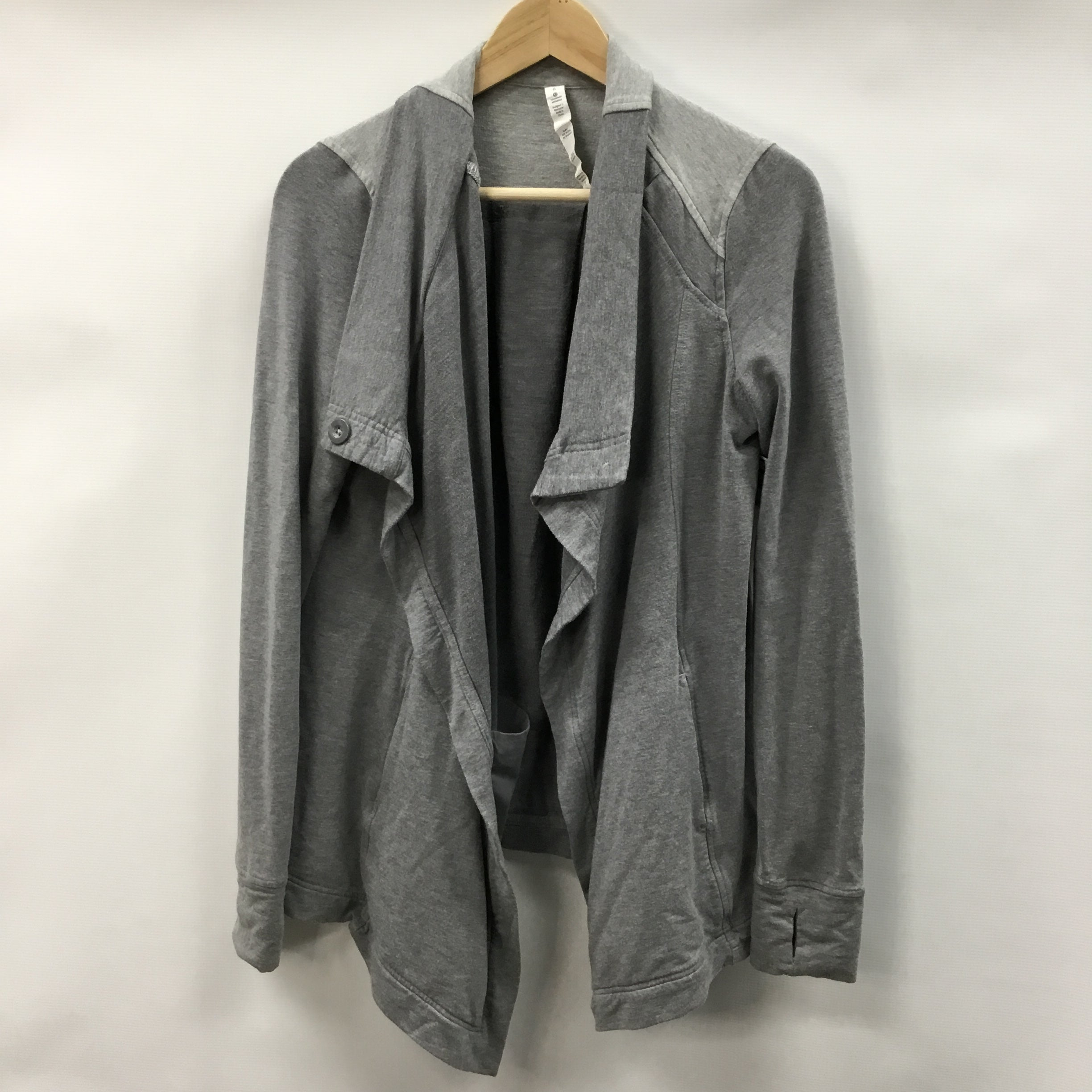 Primary Photo - BRAND: LULULEMON <BR>STYLE: SWEATER CARDIGAN HEAVYWEIGHT <BR>COLOR: GREY <BR>SIZE: 6 <BR>SKU: 194-194167-33548