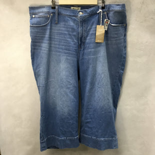Primary Photo - BRAND: MADEWELL STYLE: JEANS COLOR: DENIM SIZE: 24 OTHER INFO: PETITE WIDE LEG CROP NEW! SKU: 194-194220-4742