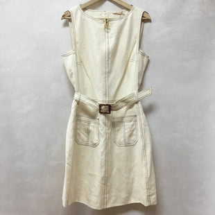 Primary Photo - BRAND: TORY BURCH STYLE: DRESS SHORT SLEEVELESS COLOR: IVORY SIZE: L OTHER INFO: NEW! SKU: 194-194183-22246