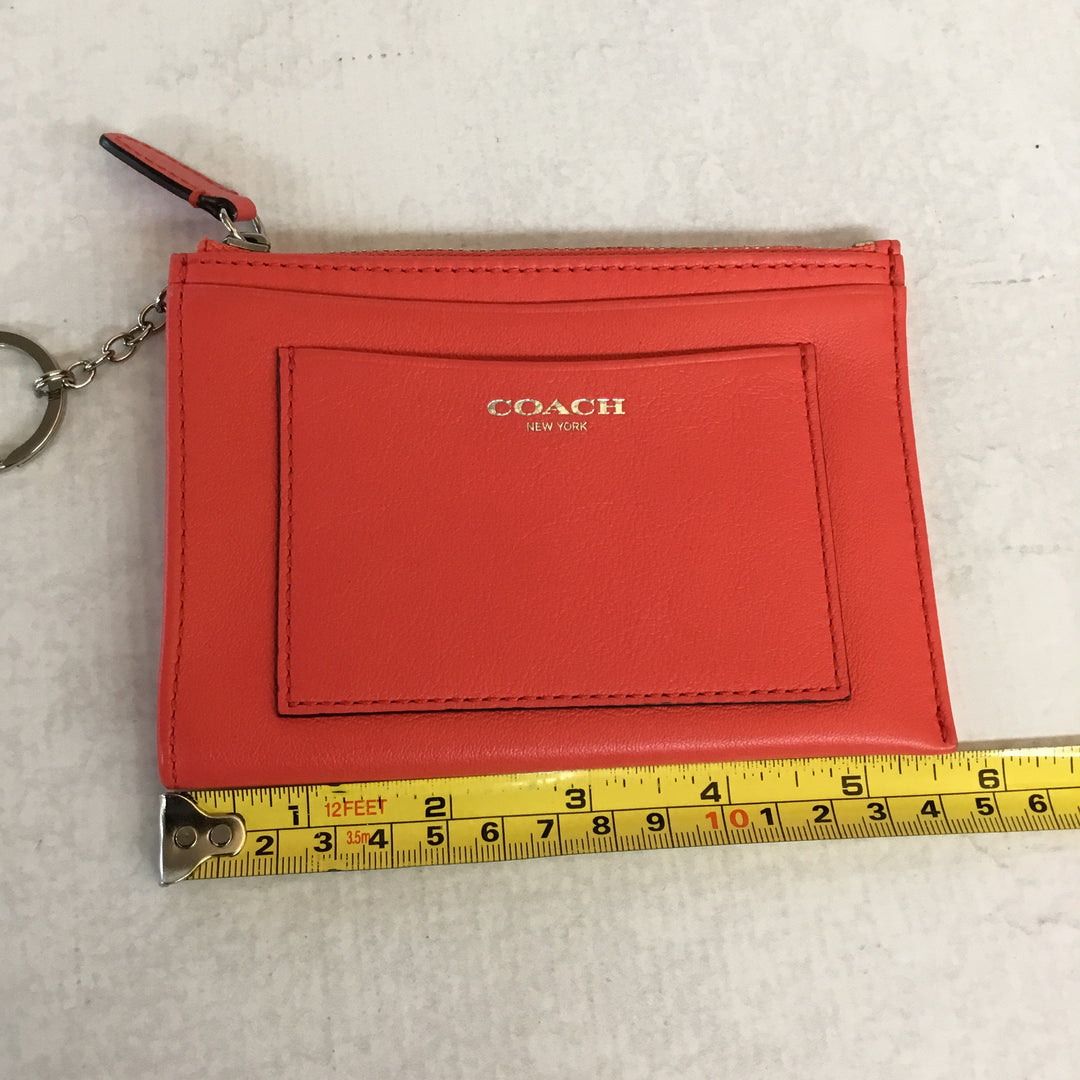 Photo #1 - BRAND: COACH <BR>STYLE: COIN PURSE <BR>COLOR: NEON RED/ HOT CORAL<BR>SIZE: SMALL <BR>SKU: 194-194194-6015