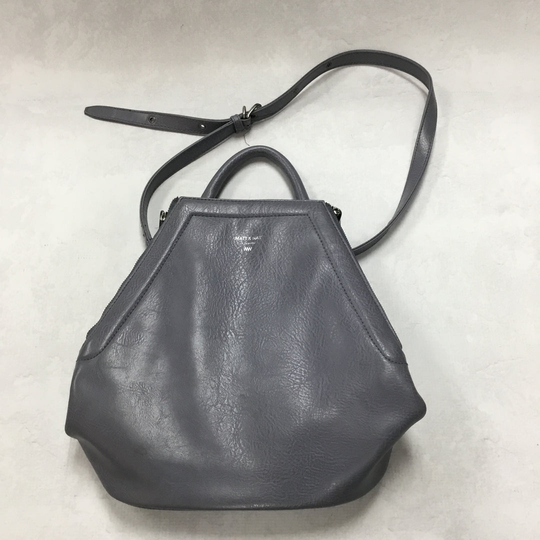 Primary Photo - BRAND: MATT AND NAT <BR>STYLE: BACKPACK <BR>COLOR: SLATE BLUE <BR>SIZE: SMALL <BR>SKU: 194-194167-29278<BR>11X12.5X6.75