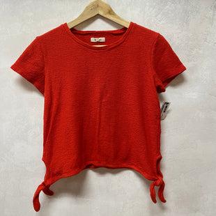 Primary Photo - BRAND: MADEWELL STYLE: TOP SHORT SLEEVE COLOR: RED SIZE: XS SKU: 194-194194-8820
